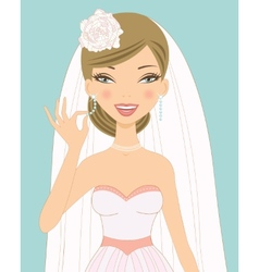 Pretty bride vector