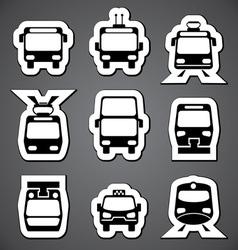 Public transport label vector