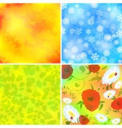 Seasonal backgrounds vector