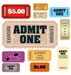 Tickets: admit one vector