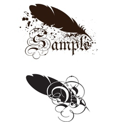 Feather with text vector