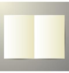 Blank magazine on white background vector