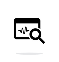 Pulse monitoring icon on white background vector