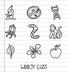 Biology class vector