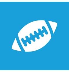Football white icon vector