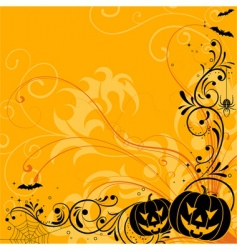 Floral halloween background vector