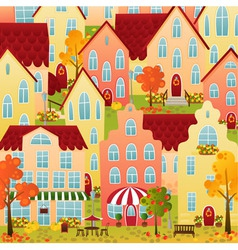 Autumn town vector