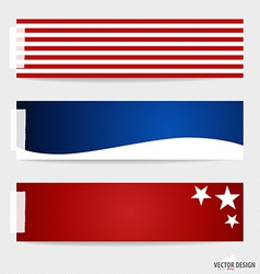 American flag note papers ready for your message vector