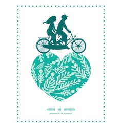 Emerald green plants couple on tandem vector
