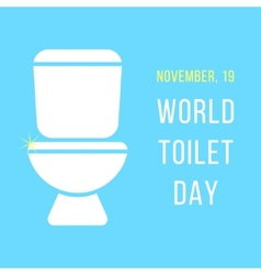 World day of the toilet bowl vector