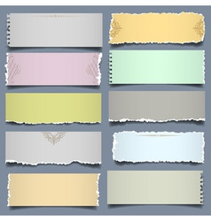 Ten notes paper in pastel colors vector