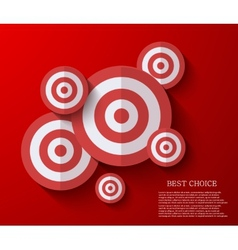 Modern flat darts background eps 10 vector