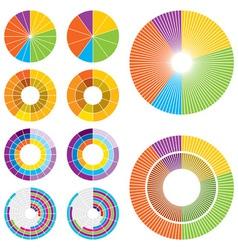 Circle charts low vector