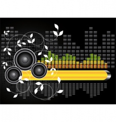 Urban music background vector