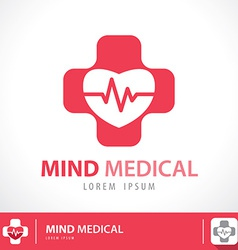 Mind medical symbol icon vector
