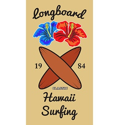 Hawaii surfers t-shirt graphic vector