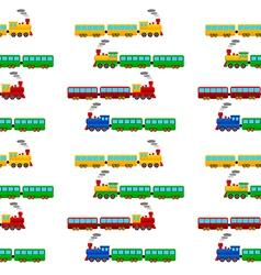 Train seamless pattern vector