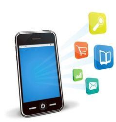 Smart phone applications vector