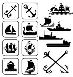 Icons ships vector