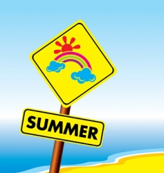 Summer symbol vector