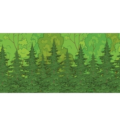 Seamless background forest vector