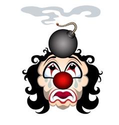 Sad clown vector
