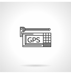 Black line icon for gps navigator vector