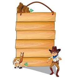 Cowboy copyspace vector