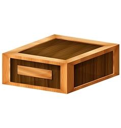 A wooden box vector