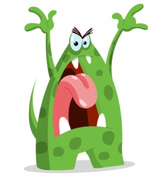 Angry monster vector