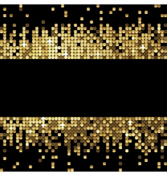 Golden background of sparkling sequins vector