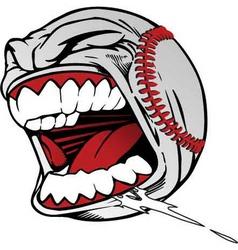 Screaming baseball vector