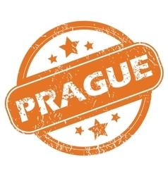 Prague round stamp vector