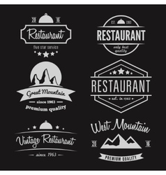 Set of different logo label emblem badge and vector