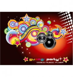 Disco music background vector
