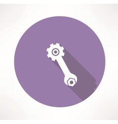 Wrench and nut icon vector