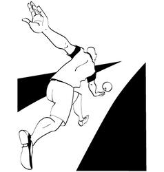 Man playing bowling vector
