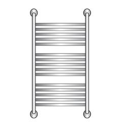 Heated towel rail vector