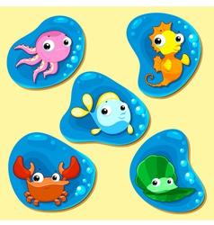 Happy sea family vector