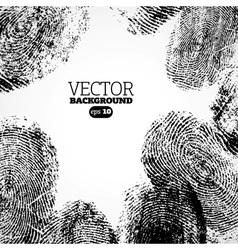 Thumb finger print background vector