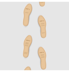 Step by step to success vector