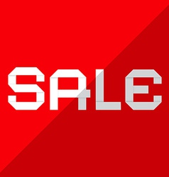 Sale paper title on red background vector
