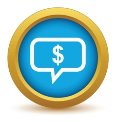 Gold thinks about money icon vector