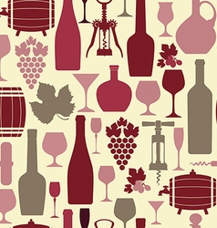 Wine seamless vector