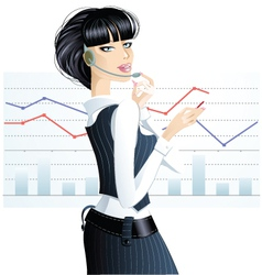 Business girl vector