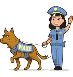 K-9 police dog vector