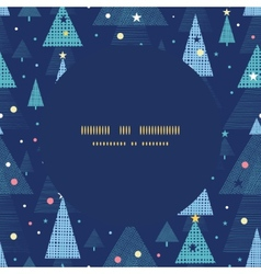 Abstract holiday christmas trees frame seamless vector