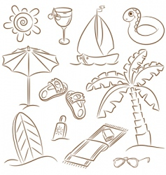 Beach vacation vector