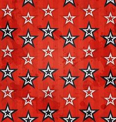 Revolution stars seamless pattern with grunge vector