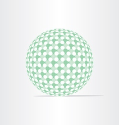 Green ball eco globe clean world icon vector